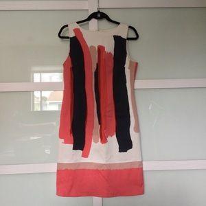 Pretty Chetta B Paint Stroke Dress SZ 6
